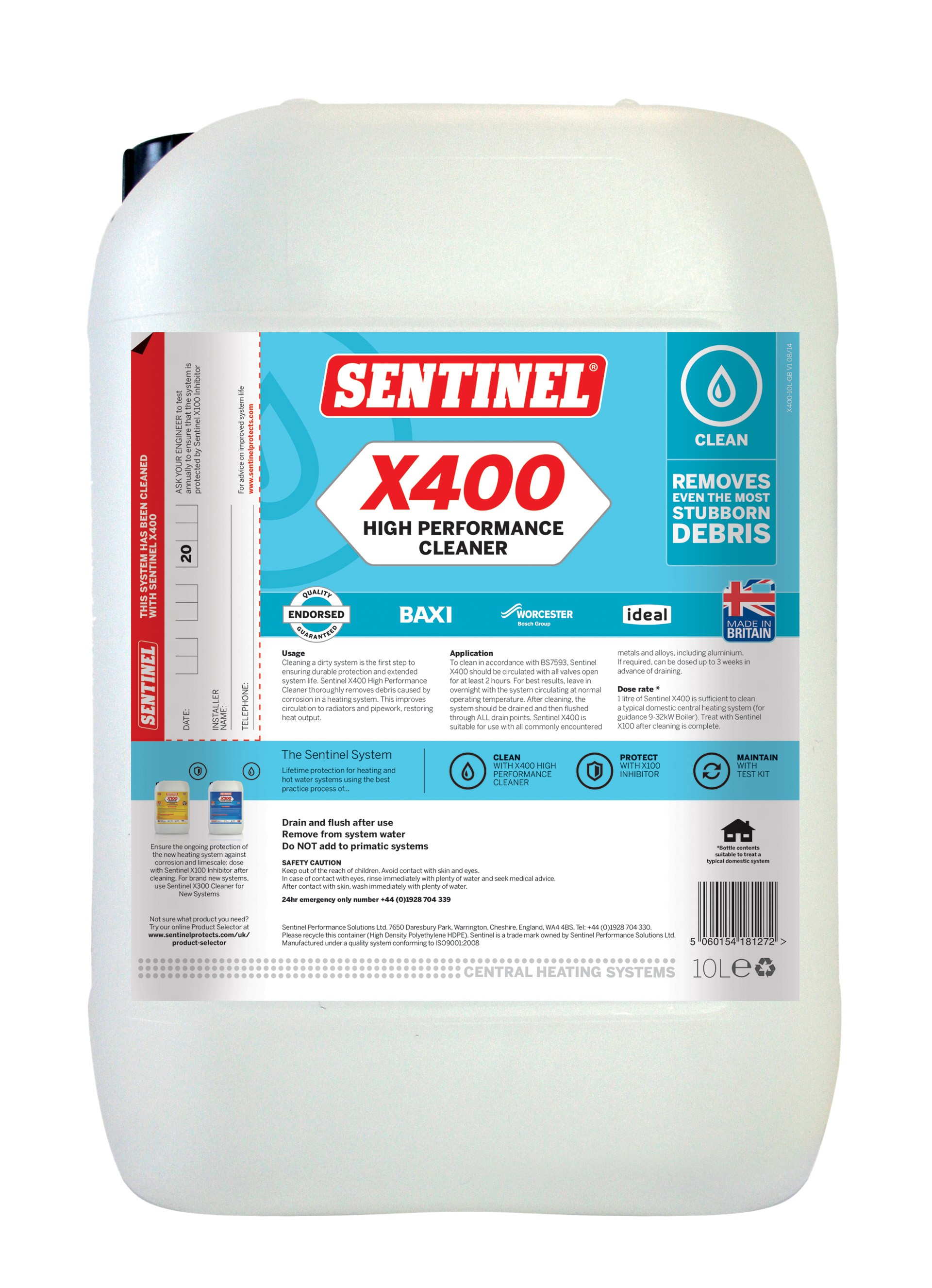X400 High Performance Cleaner | Sentinel
