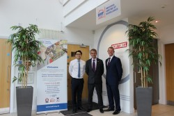 Pictured L-R: Daniel Cheung, Sentinel UK Trade Marketing Manager, Matt Haines, BMF Regional Manager, and Neil Davies, Sentinel Trade Marketing Director